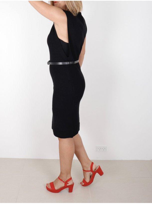 4970da0cb5ac Zally Strikkjole - Sort - Kjoler - Clothing By Ros