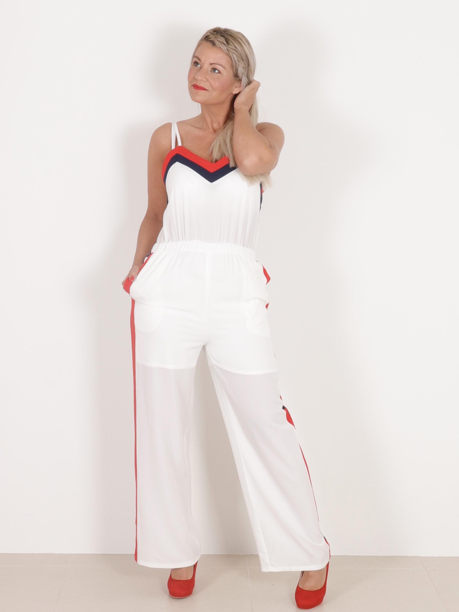 Maggie Buksedragt - Hvid - Buksedragter & Sæt - Clothing