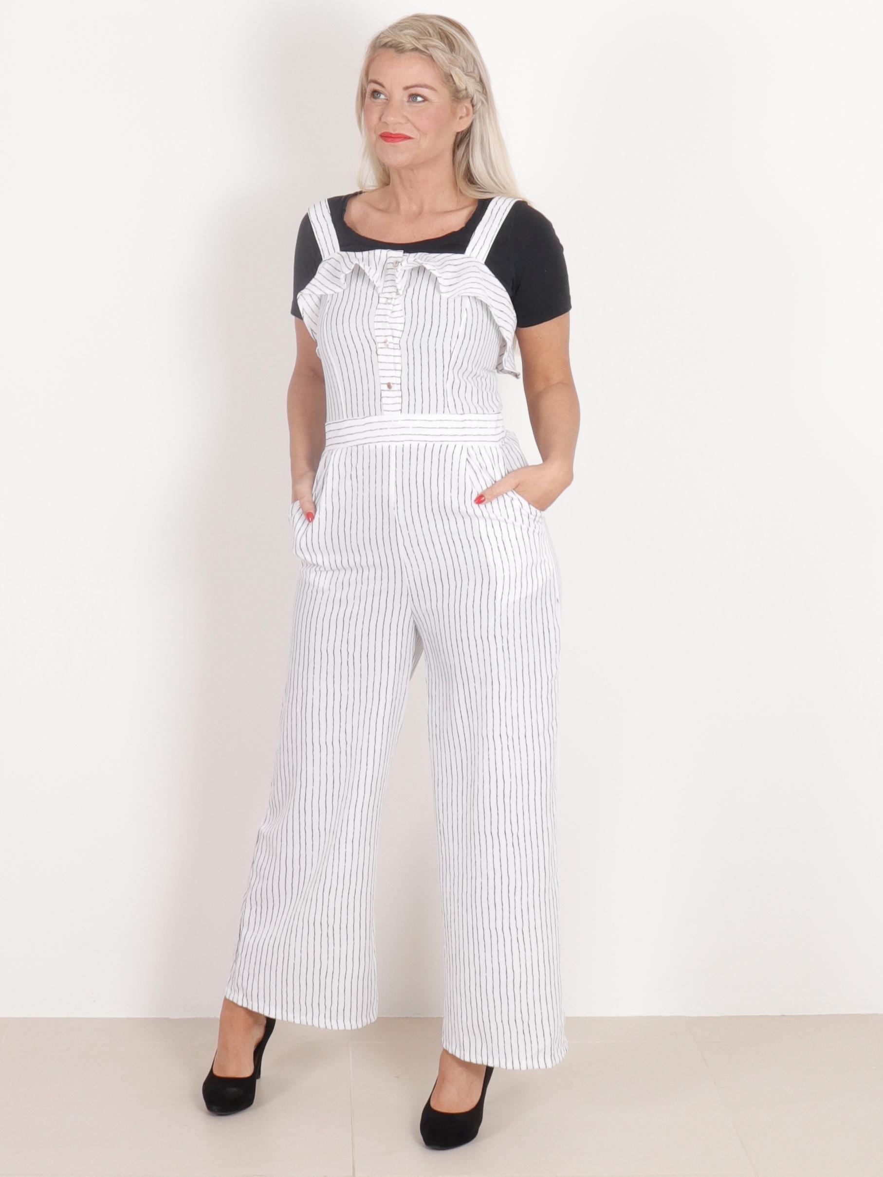 Kia Buksedragt - Hvid - Buksedragter & Sæt - Clothing By Ros